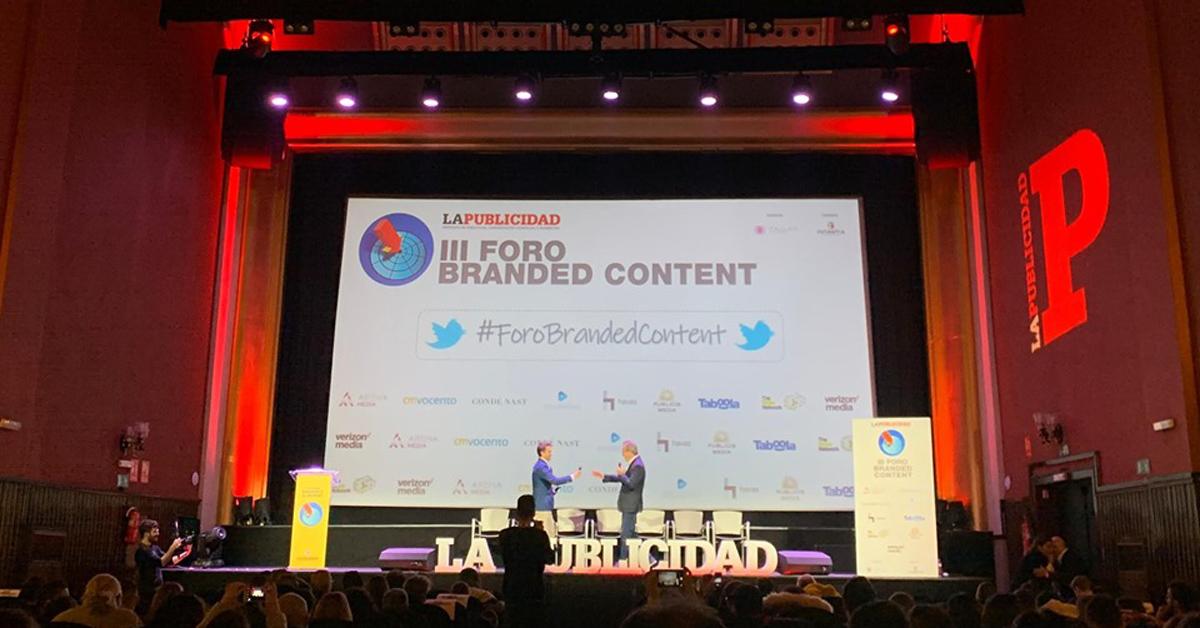 El pasado día 19 de noviembre estuvimos en el III Foro Branded Content del periódico La Publicidad en Callao City Lights.
