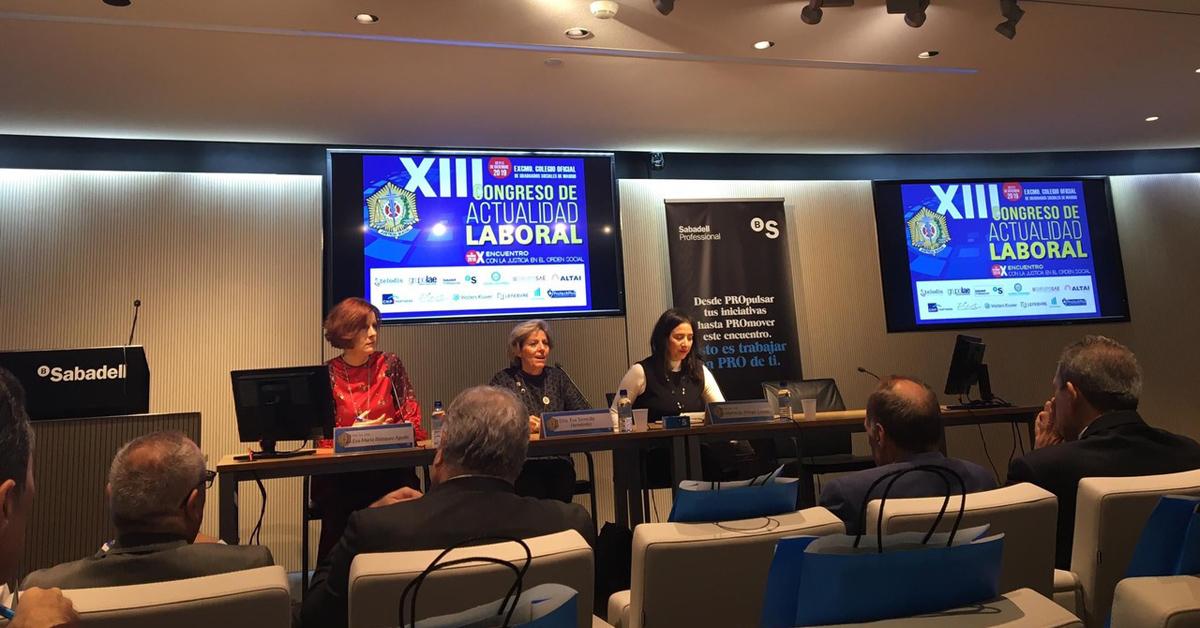 Asistimos al XIII Congreso de Actualidad Laboral del Excelentísimo Colegio Oficial de Graduados Sociales de Madrid durante los días 10, 11 y 13 de diciembre.