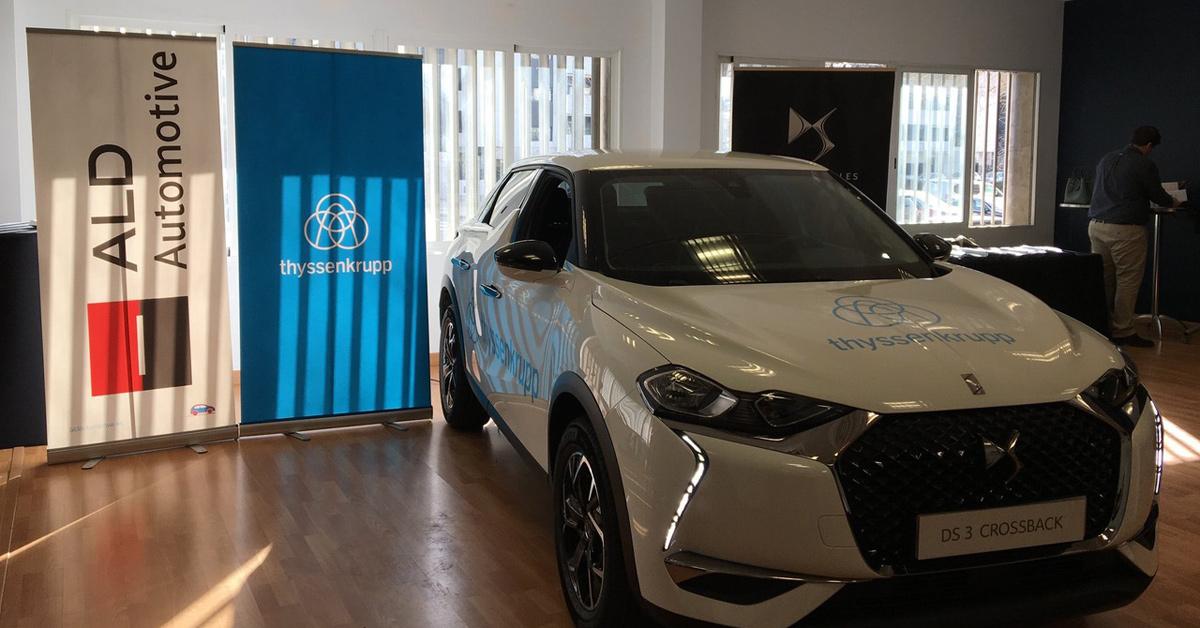 Asistimos a la entrega de flota parathyssenkruppde la mano de nuestro clienteALD Automotive España.