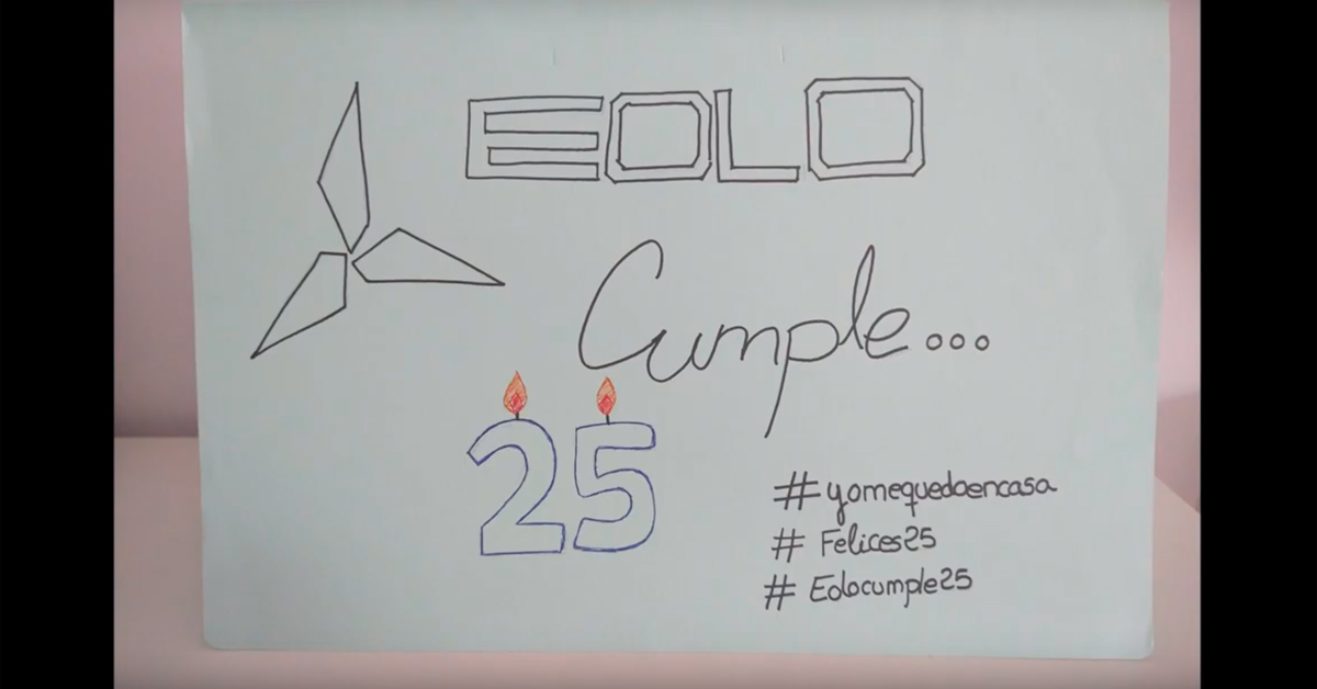 Celebramos el 25 aniversario de Eolo Comunicación