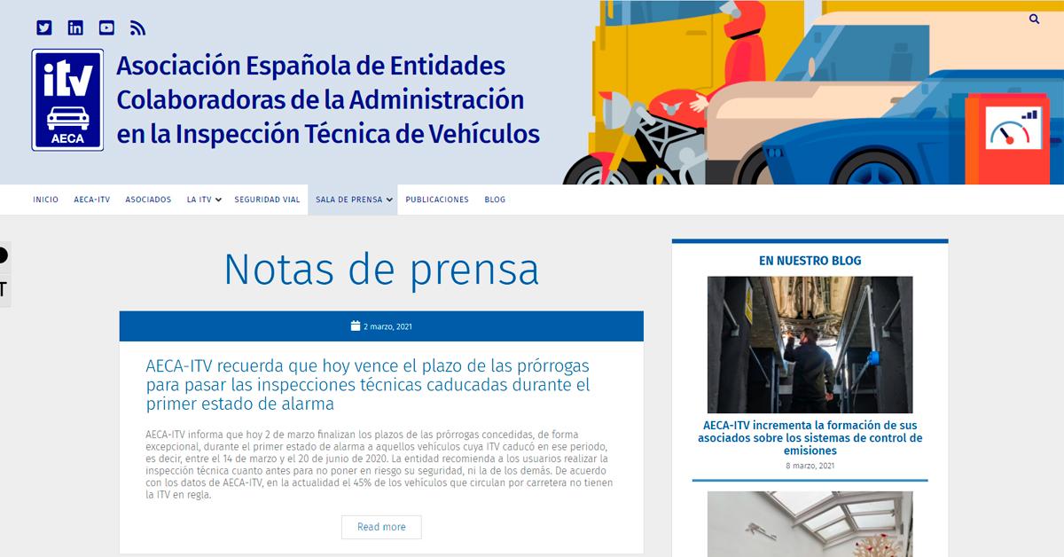 Eolo Comunicación es la nueva agencia de comunicación de la Asociación Española de Entidades Colaboradoras de la Administración en la ITV (AECA-ITV)